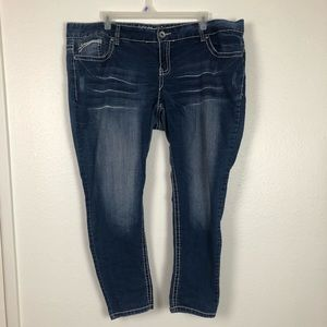 Democracy size 24 contrast stitching jeans